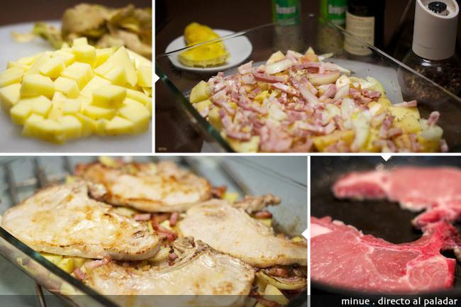 Chuletas de cerdo al horno - elaboración