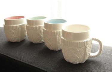 La taza Sweater: lana parece, porcelana es