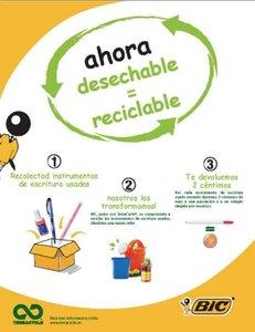 TerraCycle convierte bolígrafos en objetos útiles con la colaboración de escuelas y permite hacer donaciones a asociaciones benéficas