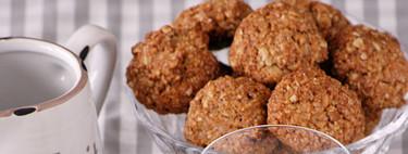 Receta de galletas de avena, naranja y jengibre