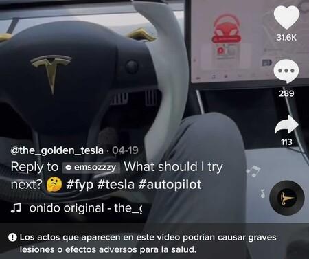 TikTok empieza a etiquetar como peligrosos los vídeos de conductores que ponen el coche a conducir por ellos