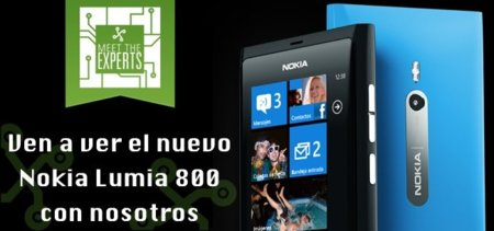El Nokia Lumia 800 se viene a la fiesta Meet the Experts, ven a tocarlo