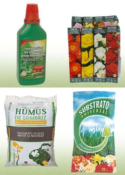 Fertilizantes, tierras y rosales