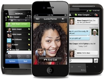 skype en varios móviles