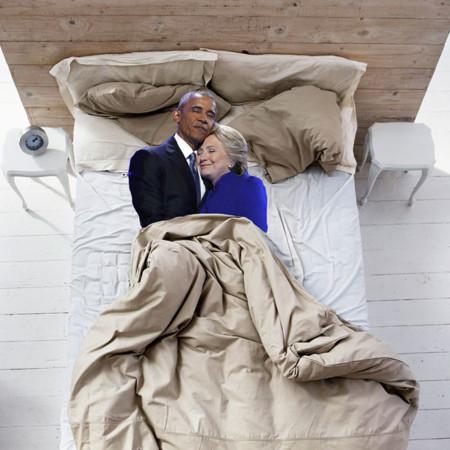 Barack Obama Hillary Clinton Hug Photoshop Battle 14