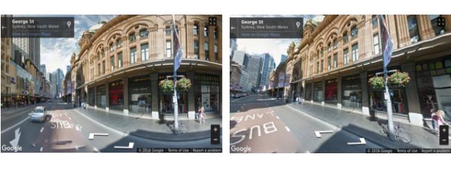 Street view en móviles