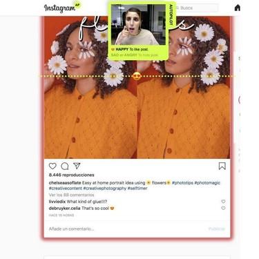 Google Chrome tiene una extensión gratuita para usar Instagram sin manos con los gestos de nuestra cara: así funciona