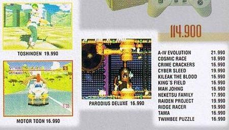 Precio juegos PlayStation en 1995