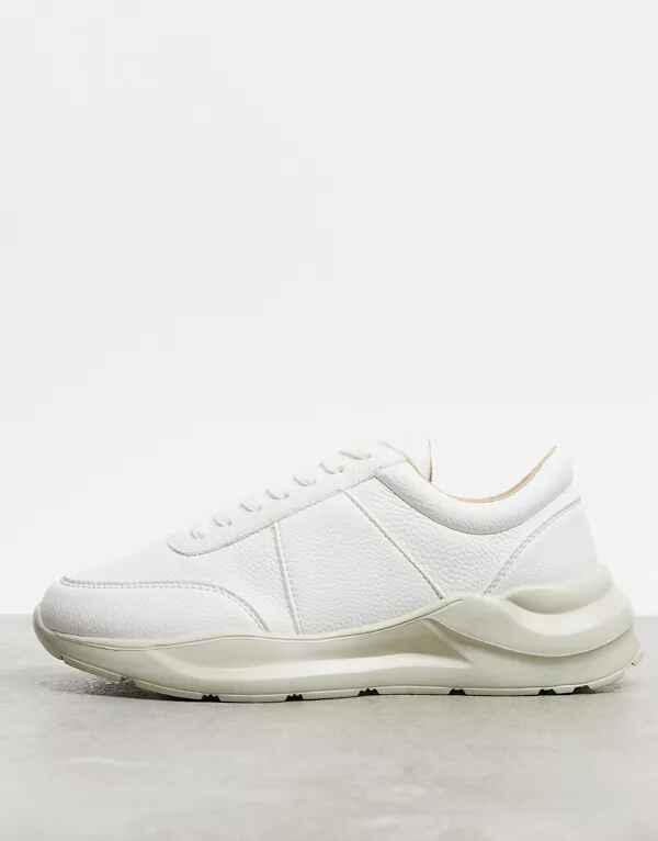Zapatillas blancas con textura de ASOS DESIGN