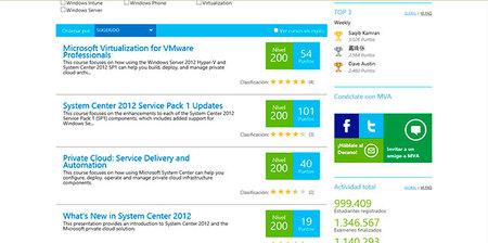 Aluvión de temas sobre System Center 2012 sp1 en la MVA