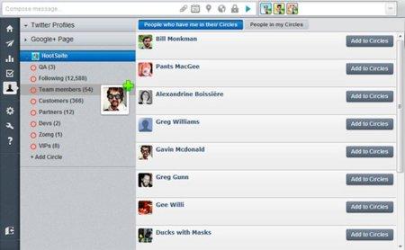 HootSuite ya permite administrar Google+ desde su aplicación