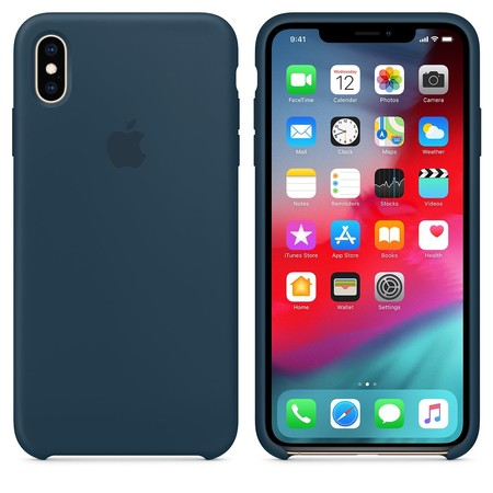 Funda Silicona Case para iPhone Xs Max Azul Noche de Apple K-tuin