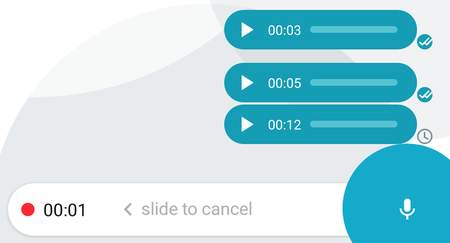 Mensajes de voz en las apps de mensajería