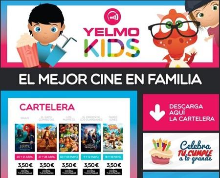 La promoción Yelmo kids para llevar a los peques al cine con precios más económicos