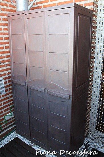 Hazlo t mismo renueva tu armario de exterior con esmalte - Armario para exterior ...