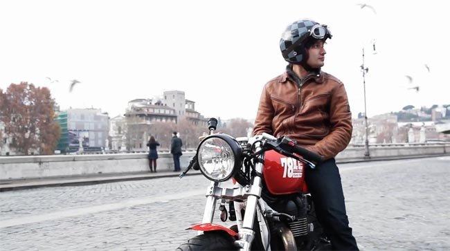 Roma la ciudad eterna con una Cafe Racer