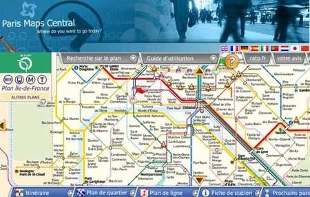 Plano interactivo del metro de París