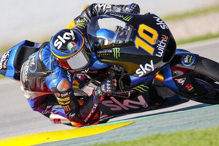 Luca Marini se reivindica con otra pole position y el récord de Barcelona-Catalunya en Moto2