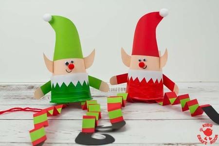 Manualidades Navidad Elfos