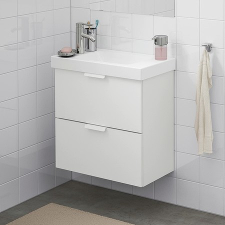 Godmorgon Hagaviken Wash Stand With 2 Drawers White Dalskaer Tap 0861078 Pe662872 S5