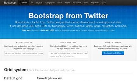 Twitter libera Bootstrap, su framework CSS para aplicaciones web