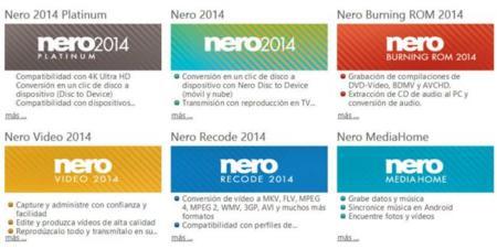 Aplicaciones que conforman Nero 2014