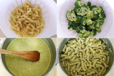 Fusilli con pesto alla genovese Barilla y brócoli