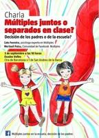 Múltiples juntos o separados en la escuela: conferencia en Barcelona.