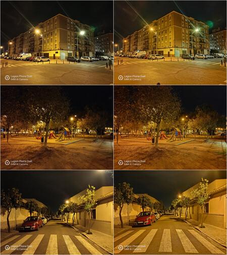 Comparativa Modo Noche