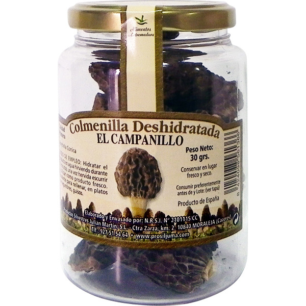 Colmenilla deshidratada El Campillo, frasco 30 g.