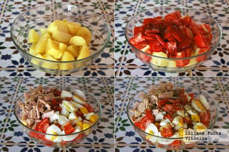 Vitonica Ensalada Patata Tomate Pasos