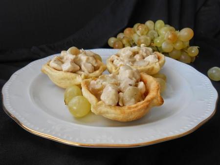 Tartaletas De Pollo En Salsa De Uva