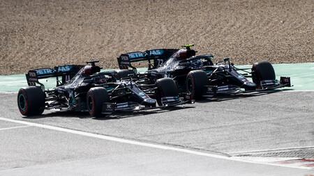 Hamilton Bottas Nurburgring F1 2020
