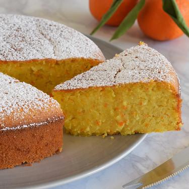 Bizcocho de mandarina y almendra: receta sin gluten de miga suave y jugosa (también con Magimix Cook Expert)