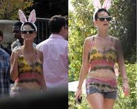 Katy Perry, vestida de coneja, celebra su particular Pascua
