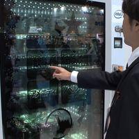 Hasta las máquinas expendedoras te reconocen, en Japón usan pantallas táctiles y transparentes