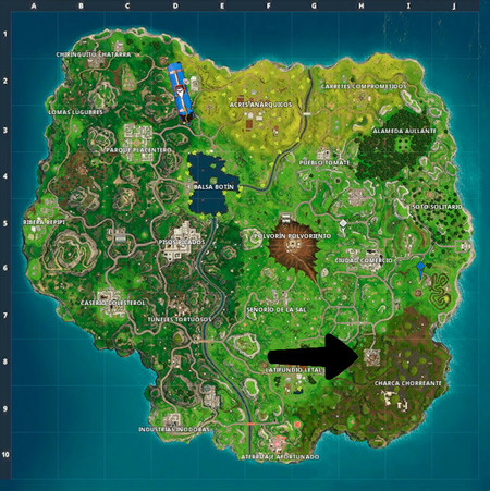 Mapa Fortnite Temporada 4