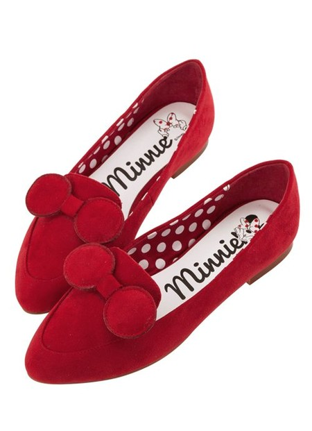Minnie Mouse Bow Tie Loafers Red 48