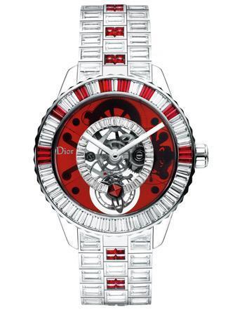 El lujo llevado al reloj por Dior Christal rubíes