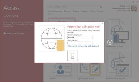 Asistente aplicación web en Access 2013