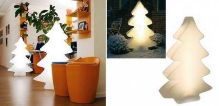 Decoración navideña: árbol luminoso