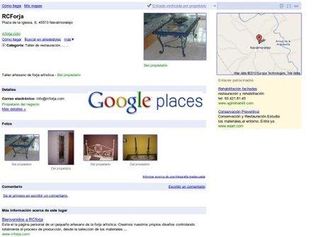 Google Business Center se transforma en Google Places