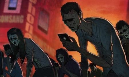 Zombies pegados a un iPhone y otras ilustraciones de Steve Cutts que te harán pensar...