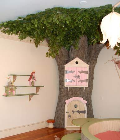 Un detalle del dormitorio del hada.