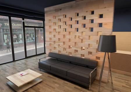Craftwand un sistema modular en madera ideal para - Separador de espacios ...