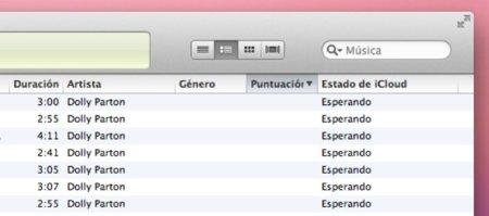 Muestra el estado de la sincronización de tus canciones en iTunes