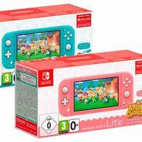 Estas navidades, regalar una Nintendo Switch Lite edición Animal Crossing sale más barato en Amazon: la tienes en coral o turquesa por 199 euros