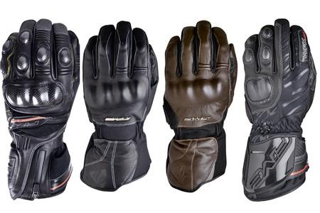 En moto en invierno y con las manos calientes con los guantes Five WPX