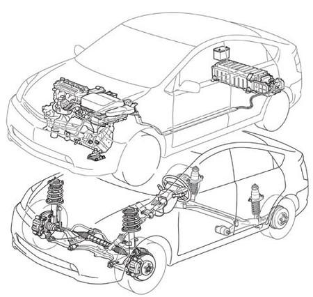 Esquema Prius Segunda Generación