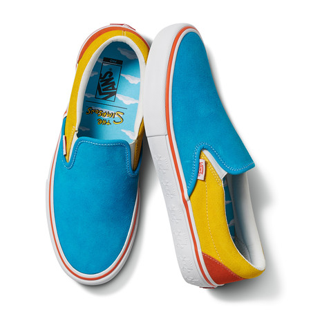 Fa20 Lifestyle Vn0a347v13m Vansxthesimpsons Sliponpro Blue Yellow